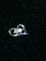 Platina fülbevaló gyémánt kővel, tanusítvánnyal