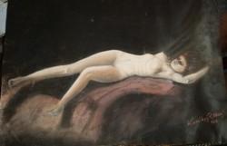 Komlóssy József, 1942 Akt festmény
