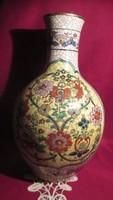 1919 Japán kézzel festett virág mintás váza 31 cm