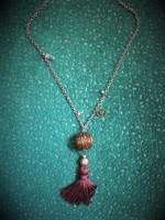 Kézműves hosszabb nyaklánc steampunk elemekkel
