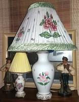 Óriási 80cm Herendi Lámpa eredeti ernyővel