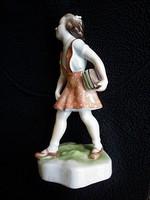 Ritkább antik Zsolnay Iskolás lány