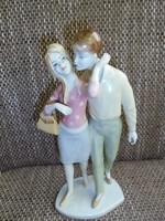 Unter Weiss Bach porcelán szerelmespár figura
