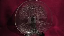 1919 Mesés üveg kínáló tál 20 cm