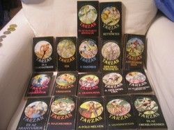 Tarzan könyv 17 kötet cím felsorolással  gyűjtemény ritkaság egyben eladóak