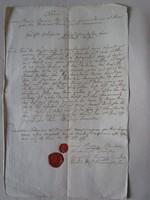 MAGYARÓVÁR MOSONMAGYARÓVÁR 1799 OKIRAT OKMÁNY OKLEVÉL DOKUMENTUM KÉZIRAT VIASZ PECSÉT