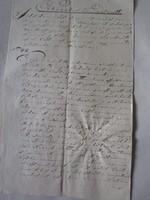 MAGYARÓVÁR MOSONMAGYARÓVÁR 1805 OKIRAT OKMÁNY OKLEVÉL DOKUMENTUM KÉZIRAT PECSÉT