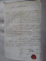 MAGYARÓVÁR MOSONMAGYARÓVÁR 1848 OKIRAT OKMÁNY OKLEVÉL DOKUMENTUM KÉZIRAT VIASZ PECSÉT