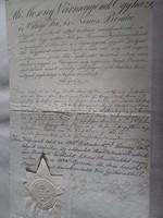 MAGYARÓVÁR MOSONMAGYARÓVÁR 1834 OKIRAT OKMÁNY OKLEVÉL DOKUMENTUM KÉZIRAT PECSÉT