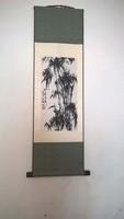Hagyományos kínai tekercskép selyemre (Bambuszok)