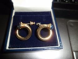 Különleges aranyozott ezüst fülbevaló