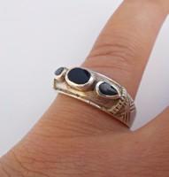 Onix köves mexikói ezüst gyűrű