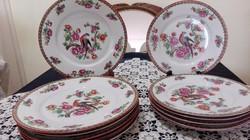 Antik Viktória ausztria tányérkészlet