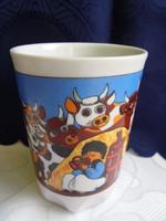 Zsolnay porcelán mese csésze(hibás)