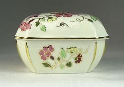 0O071 Pillangós Zsolnay porcelán bonbonier