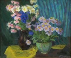 Felekiné Gáspár Anni : Virágok vázákban