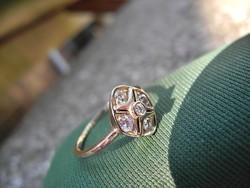 Aranygyűrű brilliánsokkal NINCS MINIMÁLÁR !!!