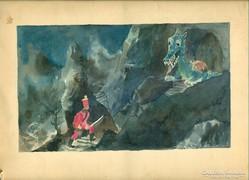 Reich Károly  egyedi kis  festménye