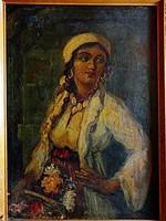 Egy lány a múltból - Vastagh György kvalitásos festménye!