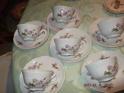 Zsolnay barack virágos kávés csésze 6 darab