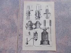 Meyers lexikon,Lampen 1906.litho