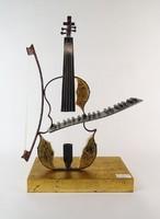 0O221 Zenei kompozíció Olasz design műtárgy 50 cm