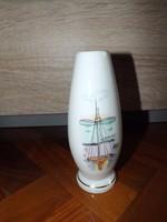 Aquincum porcelán váza Balaton 16 cm