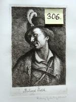 Rudnay Gyula Bolond Istók - rézkarc