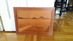 Intarzia kép 42x 37,5 cm
