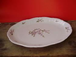 Zsolnay lila barackvirág mintás sültes tál