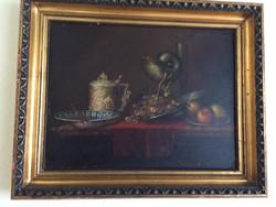 Schaffer Adalbert - Gyümlöcscsendélet kupával és Nautilus kehelyel