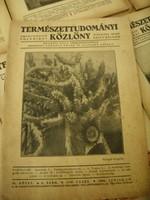 Természettudományi közlöny folyóirat 11 száma (1930-1944-ből)