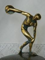 Réz diszkoszvető férfi szobor
