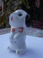 Retro fűszertartó-fűszerszóró pitiző porcelán kutya