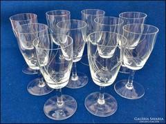 10 darab talpas csiszolt likőrös pohár