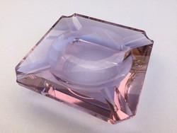 Moser lila üveg hamuzó régi hamutál