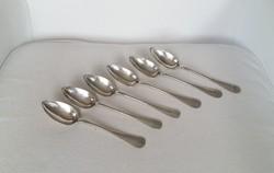 6 db ezüst teáskanál
