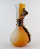 0O266 Művészi modern fújt üveg díszváza 28 cm