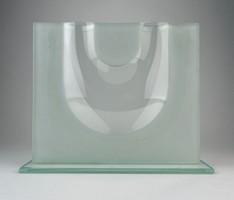 0O269 Művészi modern üveg díszváza 28 cm