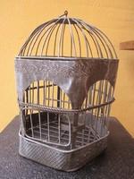 Antik fém madárkalitka.
