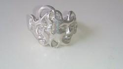 """Gyönyörű egyedi """"Szinházi"""" ezüst gyűrű"""