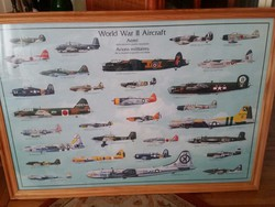 Háborús repülők üvegezett keretben