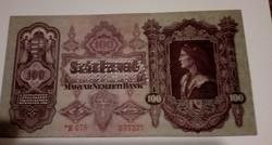 1930-as sorszámos 100 Pengő MINTA Perforációval