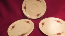 KI04 Sarreguemines francia fajansz alátét tányér 3 db egyen pici lepattanás