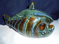 Iparművészeti zsűrizett kerámia hal figura