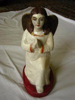 Antik  nagyméretű angyal  festet gipsz