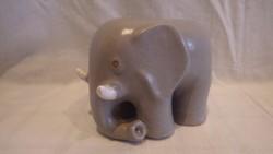 Zsűrizett iparművész kerámia elefánt szobor