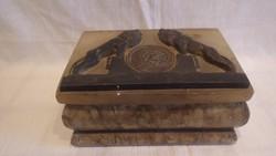 Füsti ötvös bronz oroszlánok doboz