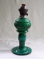 Petróleum lámpa, malachit gyönyörű-hibátlan