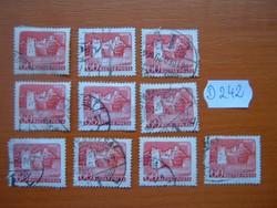 60 FILLÉR 10 DB 1960 VÁRAK,SÁROSPATAK D242